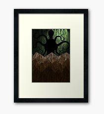 Cthulhu's mountains of madness - green Framed Print