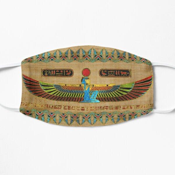 Adorno egipcio de Isis de la diosa en papiro Mascarilla plana