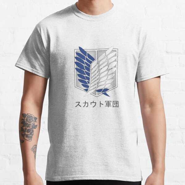 Attack on Titan Shingeki no Kyojin Logo SNK Camiseta clásica