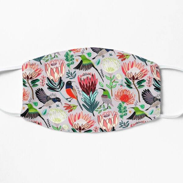 Sunbirds & Proteas On Grey Mask