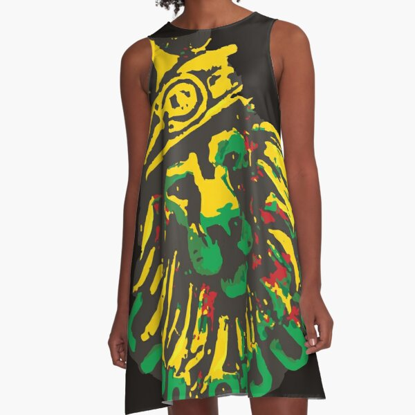 Rasta Lion of Judah Clothing Merchandise Gifts A-Line Dress