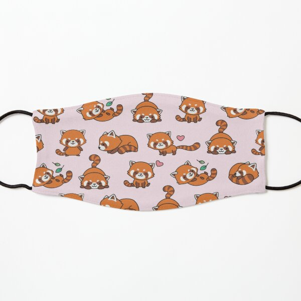 Red Panda Pattern Kids Mask