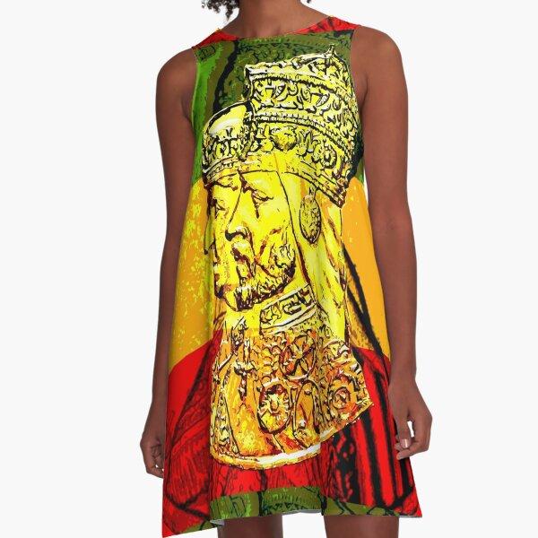 His Majesty Haile Selassie Empress Menen A-Line Dress
