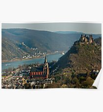 Oberwesel in the Rhine Gorge, Germany. Poster