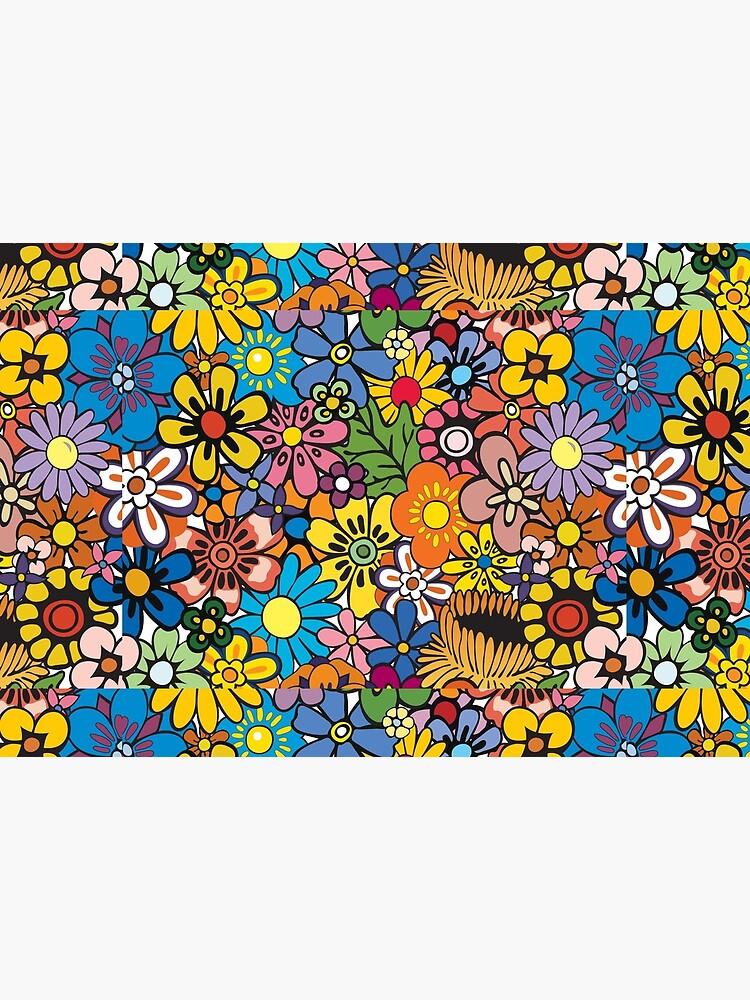 Retro hippie Flower pattern by SockSandwich