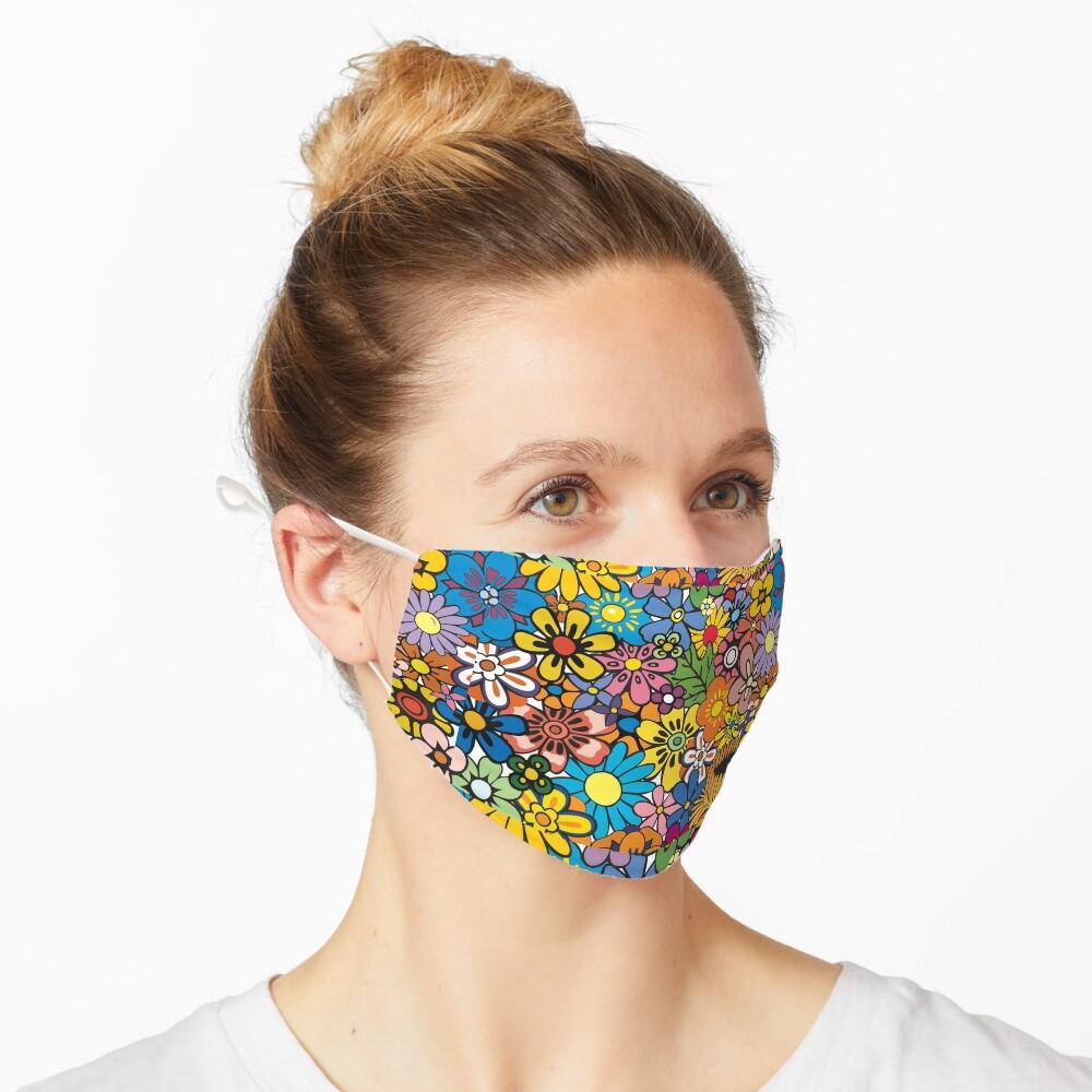 Retro hippie Flower pattern Mask