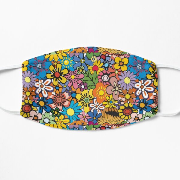 Retro hippie Flower pattern Mask