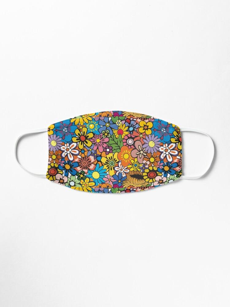 Alternate view of Retro hippie Flower pattern Mask