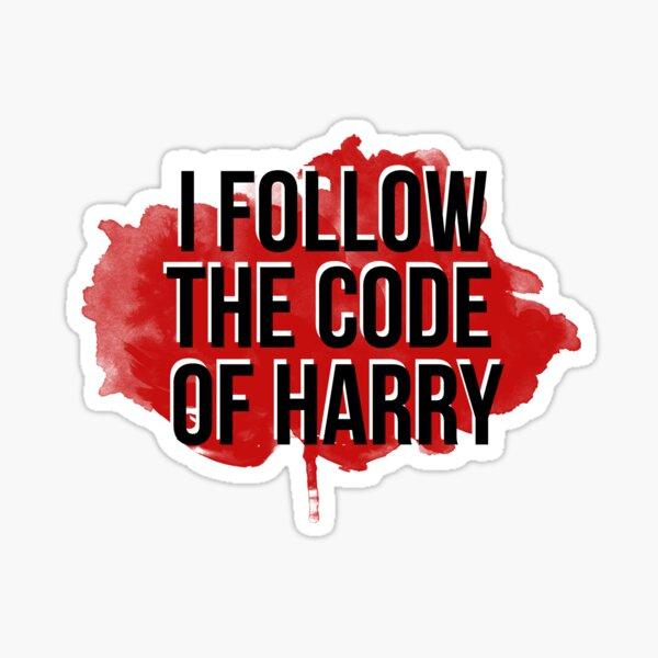 The Code Of Harry Sticker