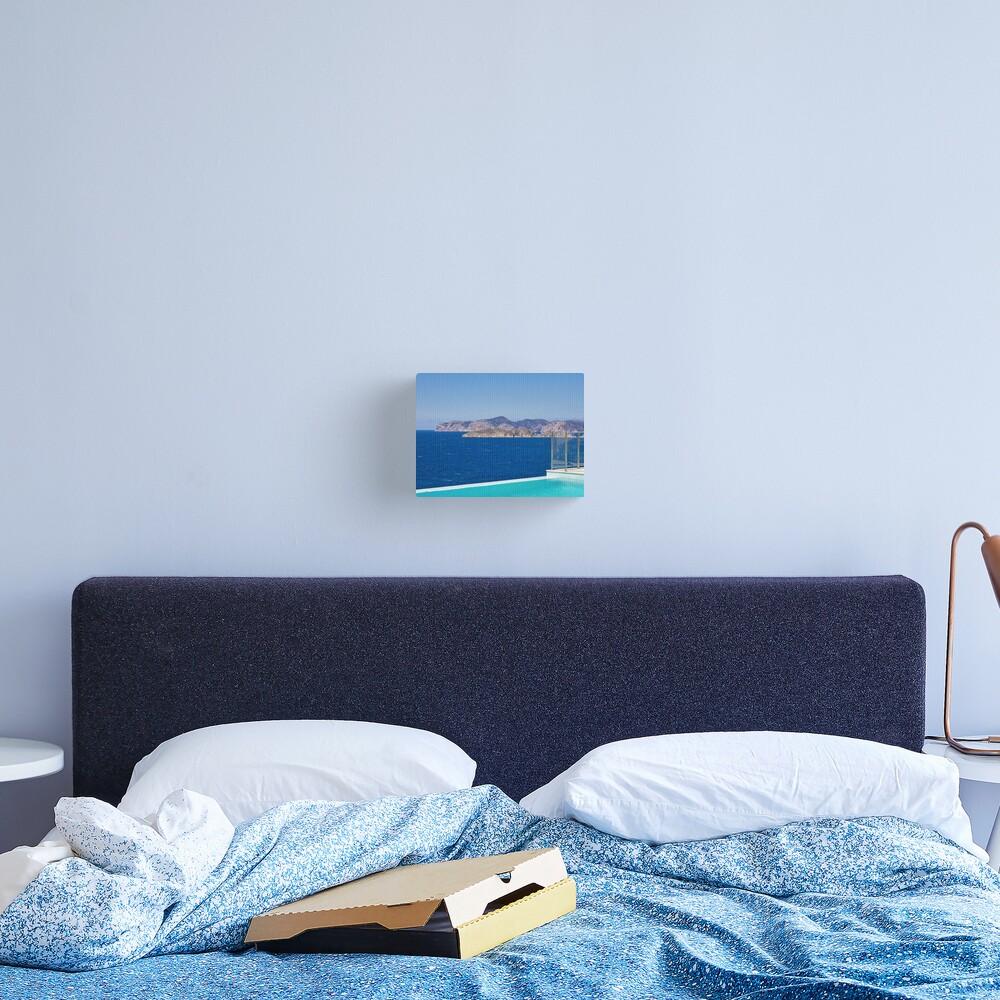 Infinity pool overlooking the Mediterranean Sea Canvas Print