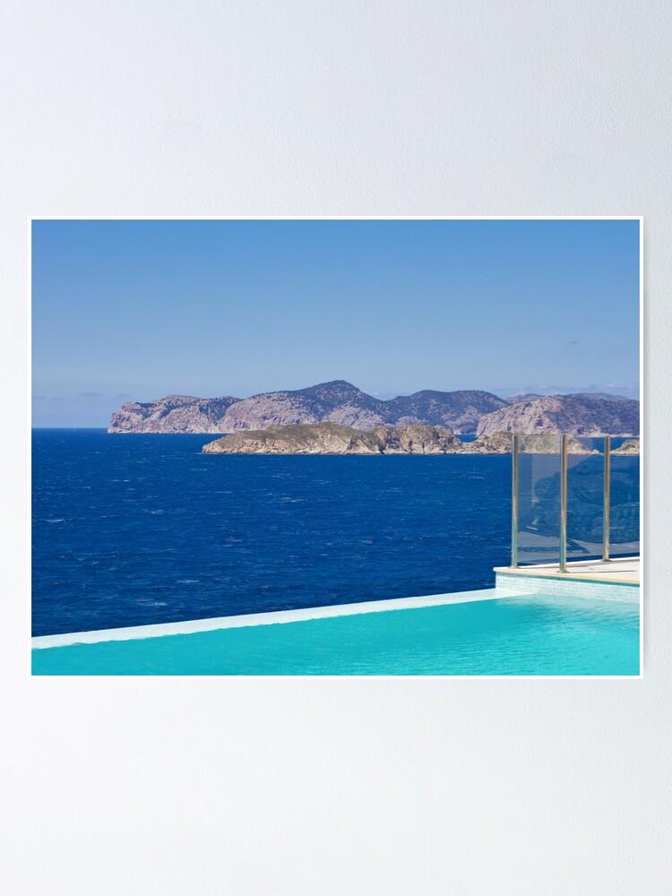 Alternate view of Infinity pool overlooking the Mediterranean Sea Poster