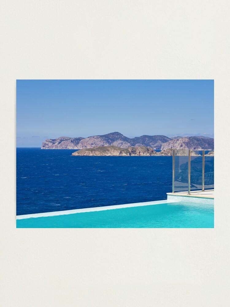 Alternate view of Infinity pool overlooking the Mediterranean Sea Photographic Print