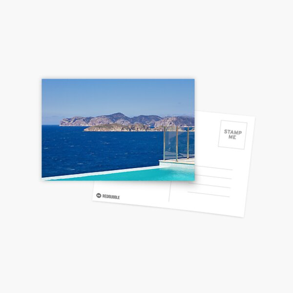 Infinity pool overlooking the Mediterranean Sea Postcard