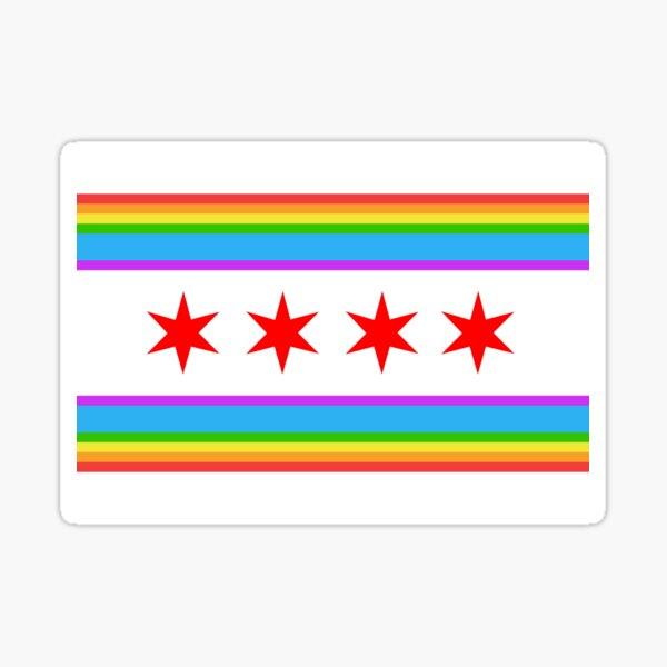 Chicago Rainbow Pride Flag 2015 Sticker