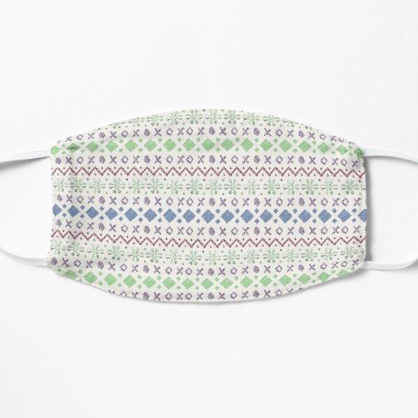 Fairisle pattern - Green & Blue Mask