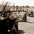 Union Troops Firing Line by J. Michael Runyon