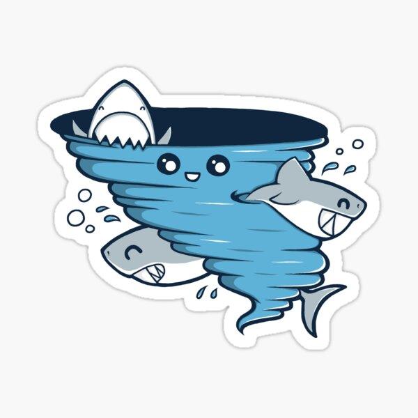 Cutenado - Cute Shark Tornado Sticker