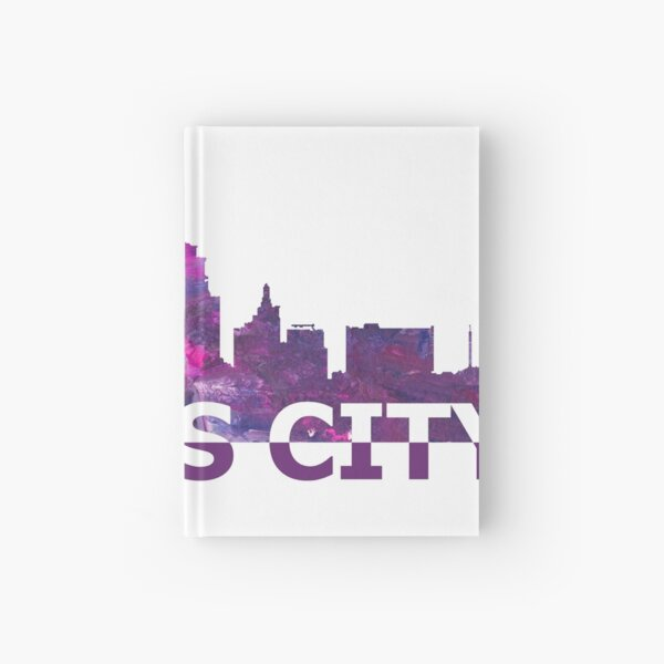 Kansas City Skyline Silhouette Strong with Text  Hardcover Journal