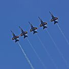 Blue Angels - Soaring High Above in Line by Buckwhite
