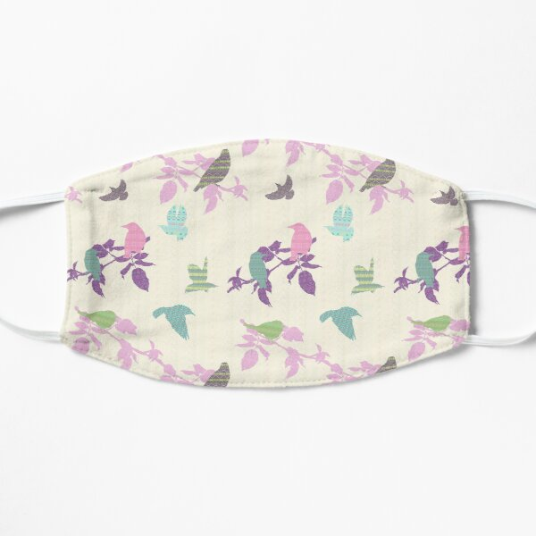 Shetland Starling - pink/purple leafs Mask
