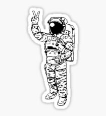 Astronaut Peace Sticker