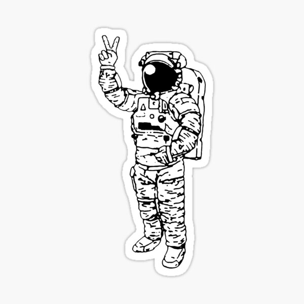 Astronaut Peace Sticker