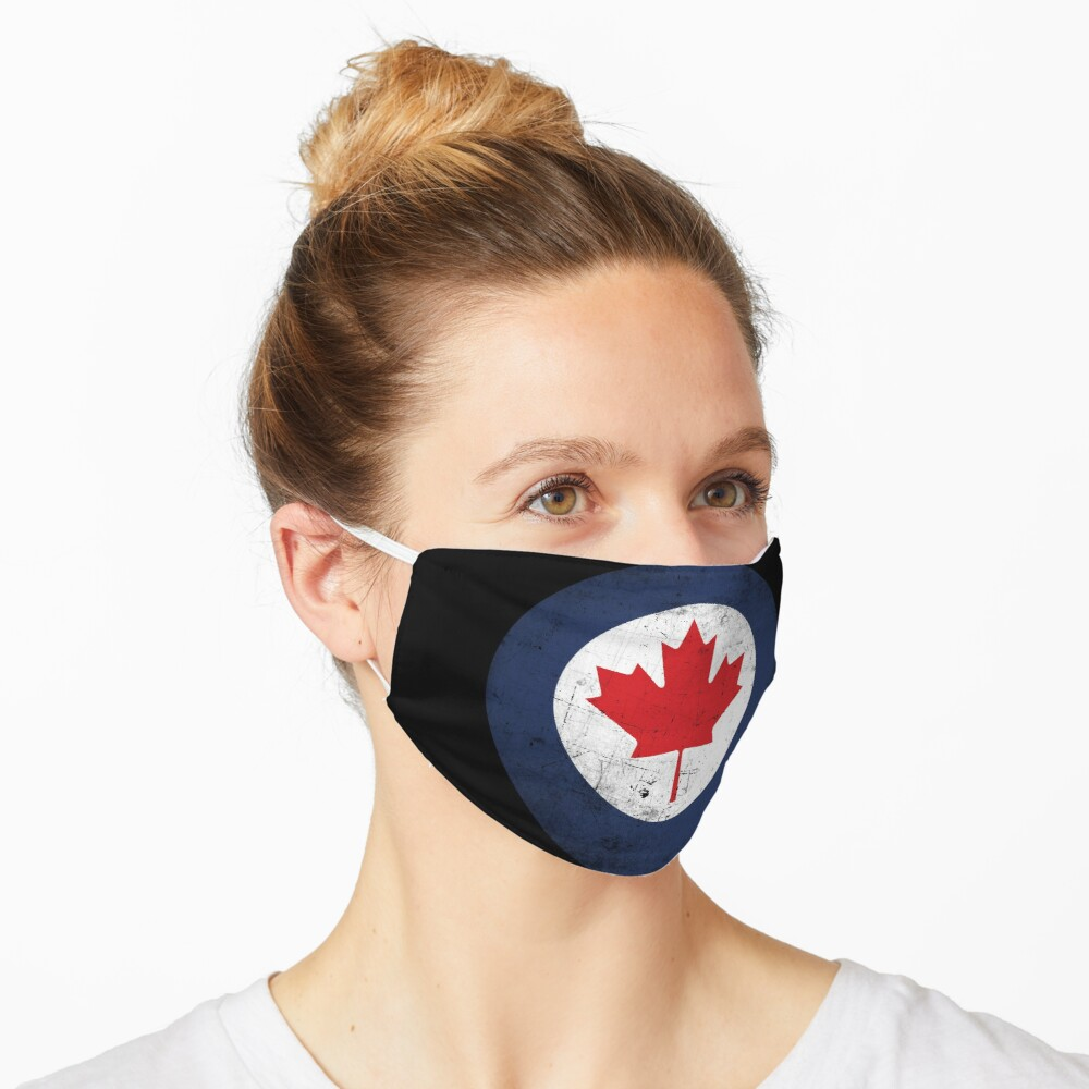 Canada Air Force Roundel Distressed Mask