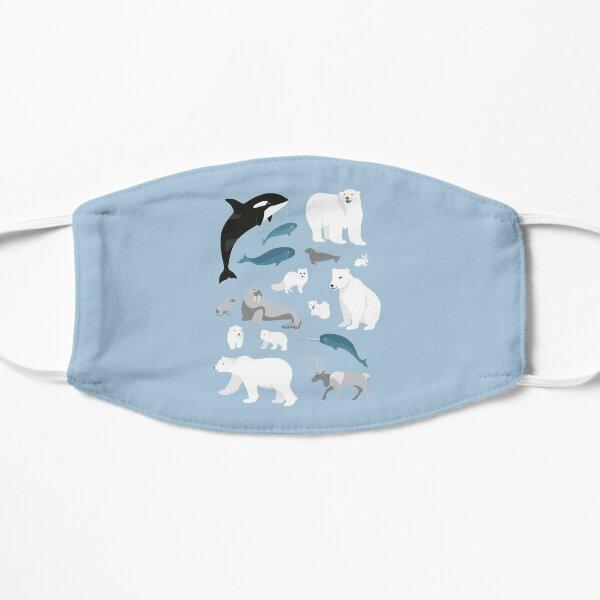 arctic animals solo Flache Maske