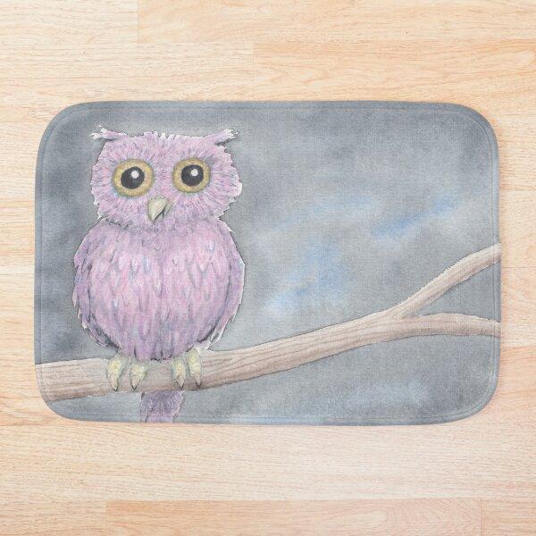 Owl on a Limb Bath Mat