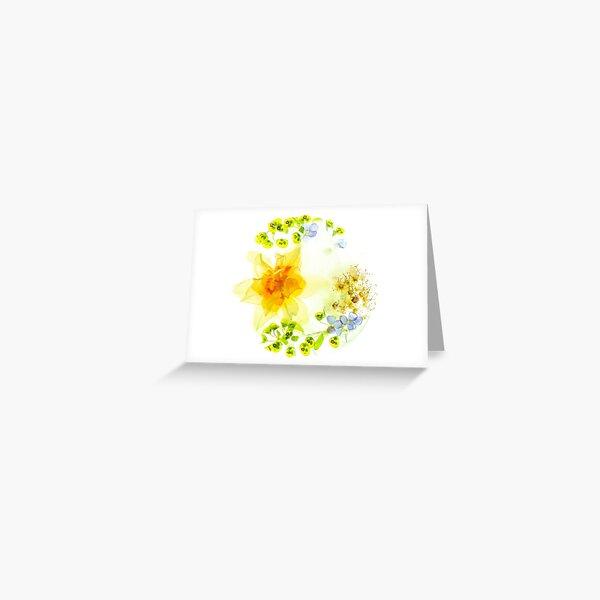 Fleurs de Printemps Givrées 1 Carte de vœux