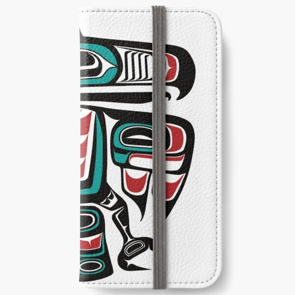 Haida Tlingit Native Raven Totem iPhone Wallet