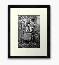 Barber - WWII - GI Haircut Framed Print