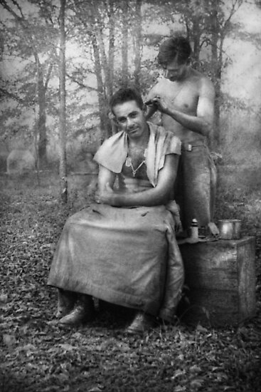 Barber - WWII - GI Haircut by Michael Savad