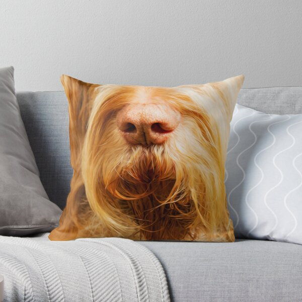 Soft Spinone Nose Throw Pillow