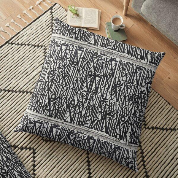 Urban Hip Hop Pattern Floor Pillow