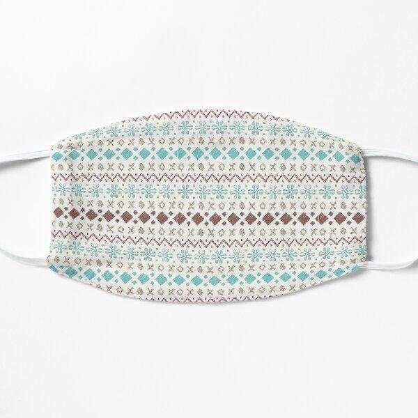 Fairisle pattern - turquoise & brown Mask