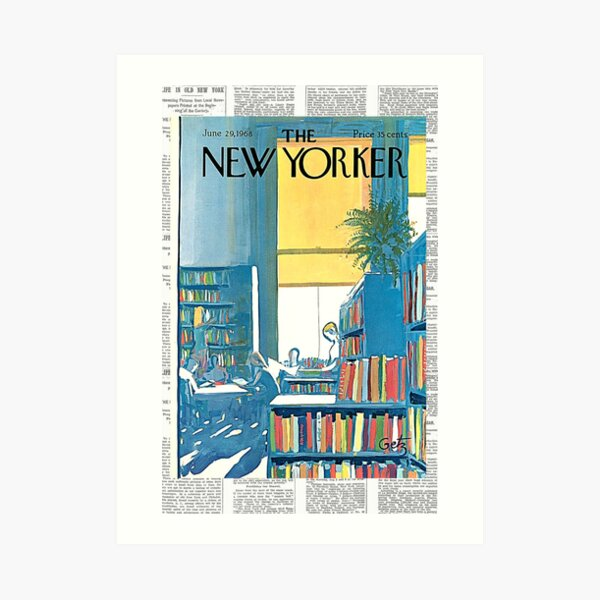 Vintage New Yorker Magazine Cover 1968 Art Print