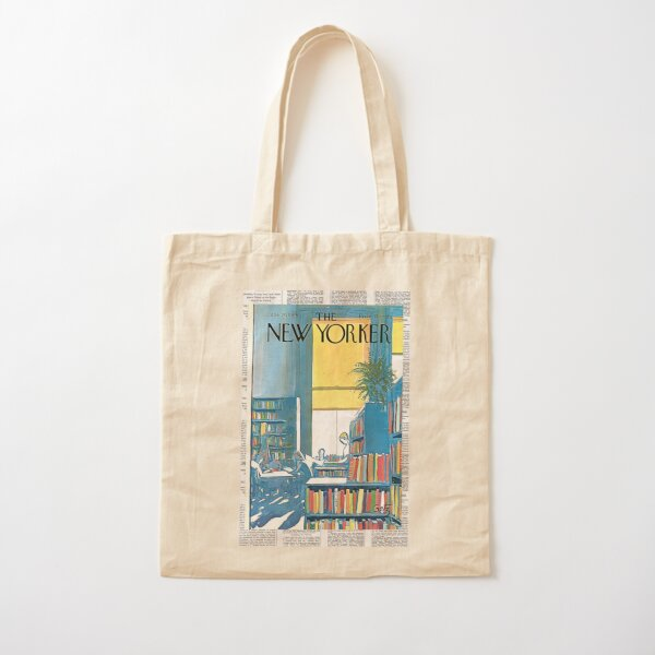 Vintage New Yorker Magazine Cover 1968 Cotton Tote Bag