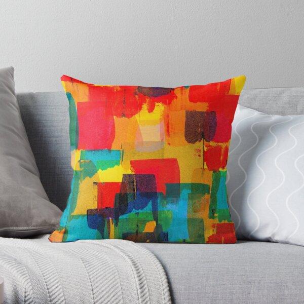 Rainbow life Throw Pillow