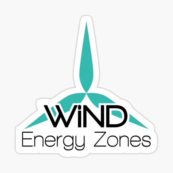Wind Energy Zones Sticker