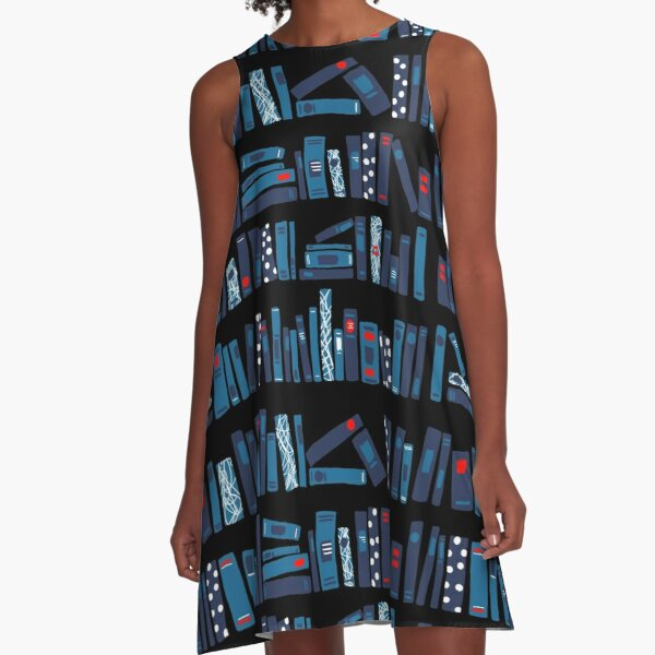 Keep Reading. Black. A-Line Dress