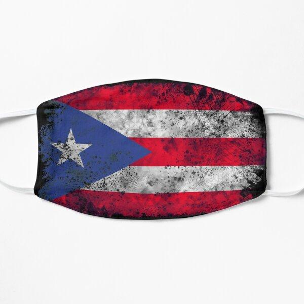 Vintage bandera de puerto rico Mascarilla plana