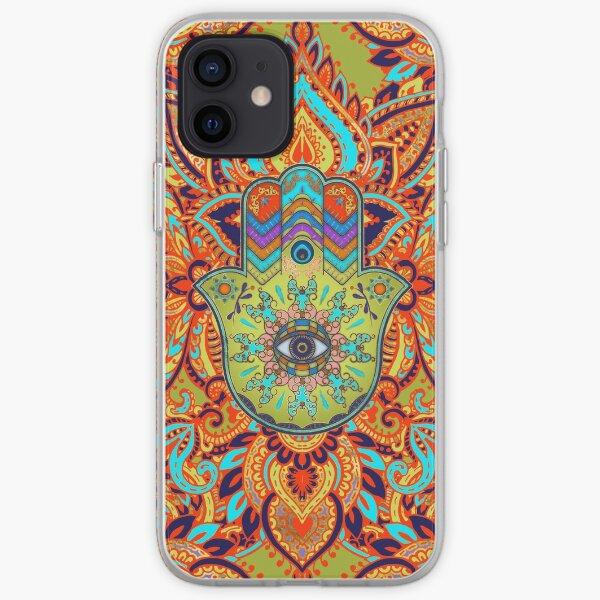 Colorfull  Hamsa Hand  iPhone Soft Case