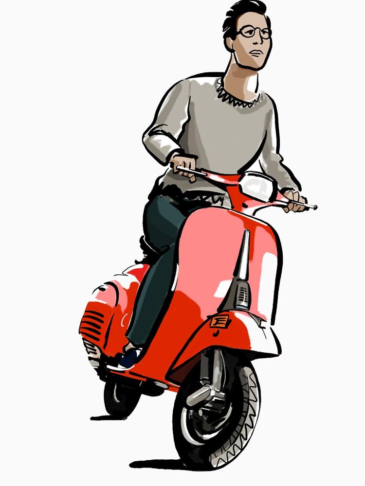 Dibujo de moto vespa | Ilustración motocicleta de CovoStudio