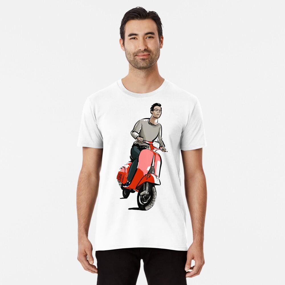 Dibujo de moto vespa | Ilustración motocicleta Camiseta premium