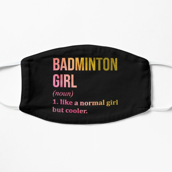 Badminton Girl Funny Quote in Watercolor Mask