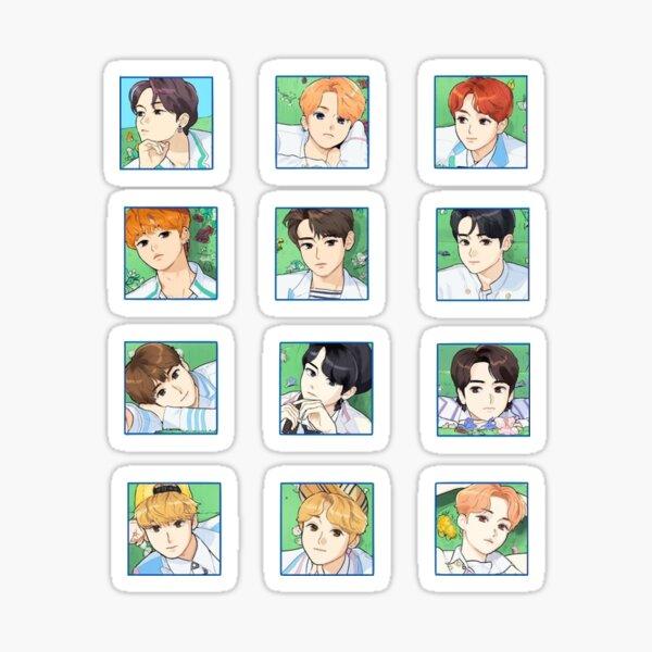 The Boyz Bloom Bloom Set Drawing Art Sticker