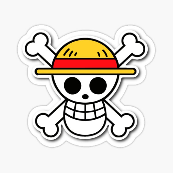 Masque coronavirus one piece Sticker