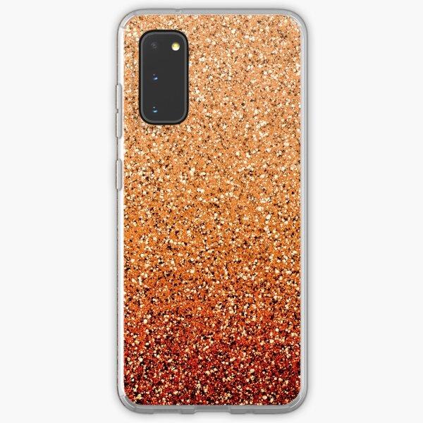 Orange Ombre Glitter Samsung Galaxy Soft Case