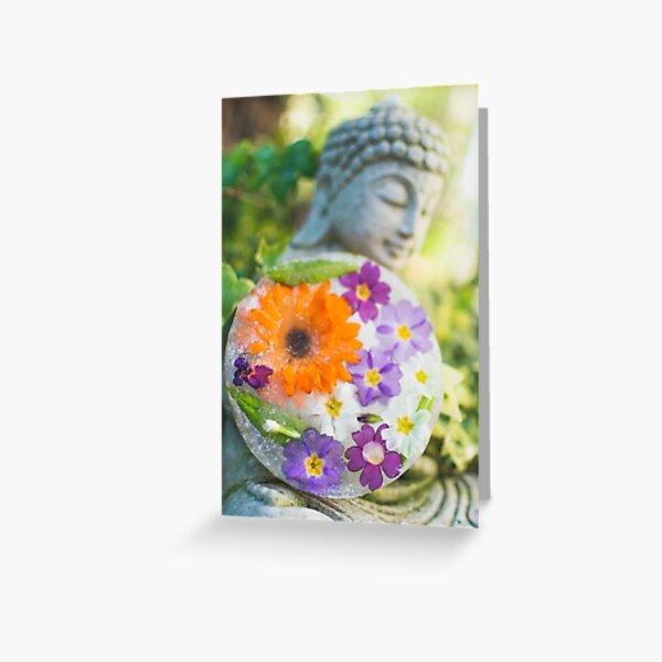 Fleurs de Printemps Givrées 7 Carte de vœux